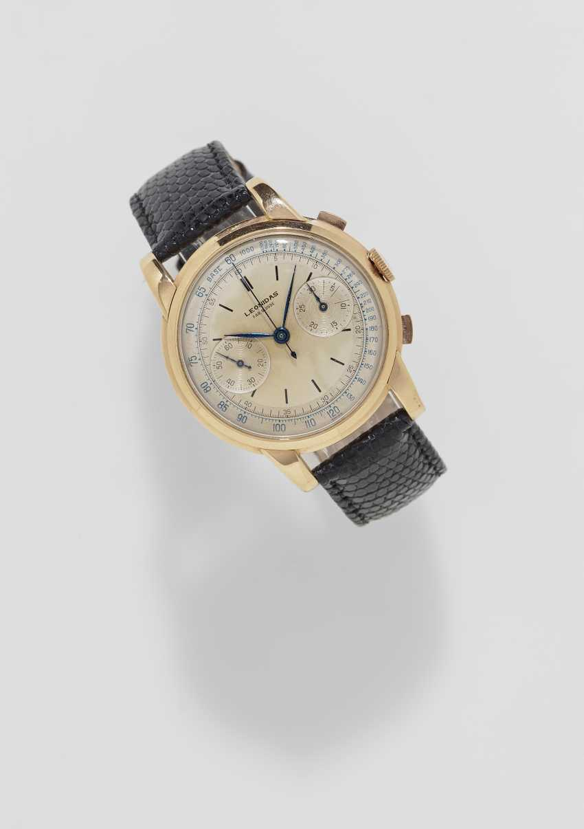 Men's watch with Chronograph. Switzerland, Saint-Imier, 1950s, LEONIDAS - photo 1