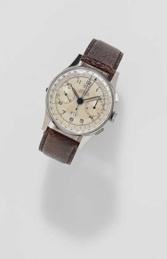 Wristwatch with Chronograph and full calendar. Switzerland, Le Locle, 1940s ANGELUS chronograph Chrono date - photo 1