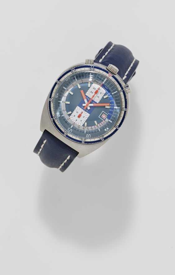 "Men's watch with Chronograph. Switzerland, Le Chaux-de-Fonds, around 1970, BREITLING PUPITRE ""PULT BULLHEAD"", Ref: 7101 - photo 1"