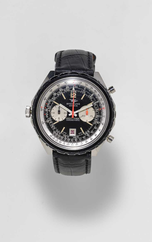 Men's watch with Chronograph. Switzerland, La Chaux-de-Fonds, around 1970, BREITLING, NAVITIMER CHRONO-MATIC, Ref: DDE.BR.11525/67-1806 - photo 1