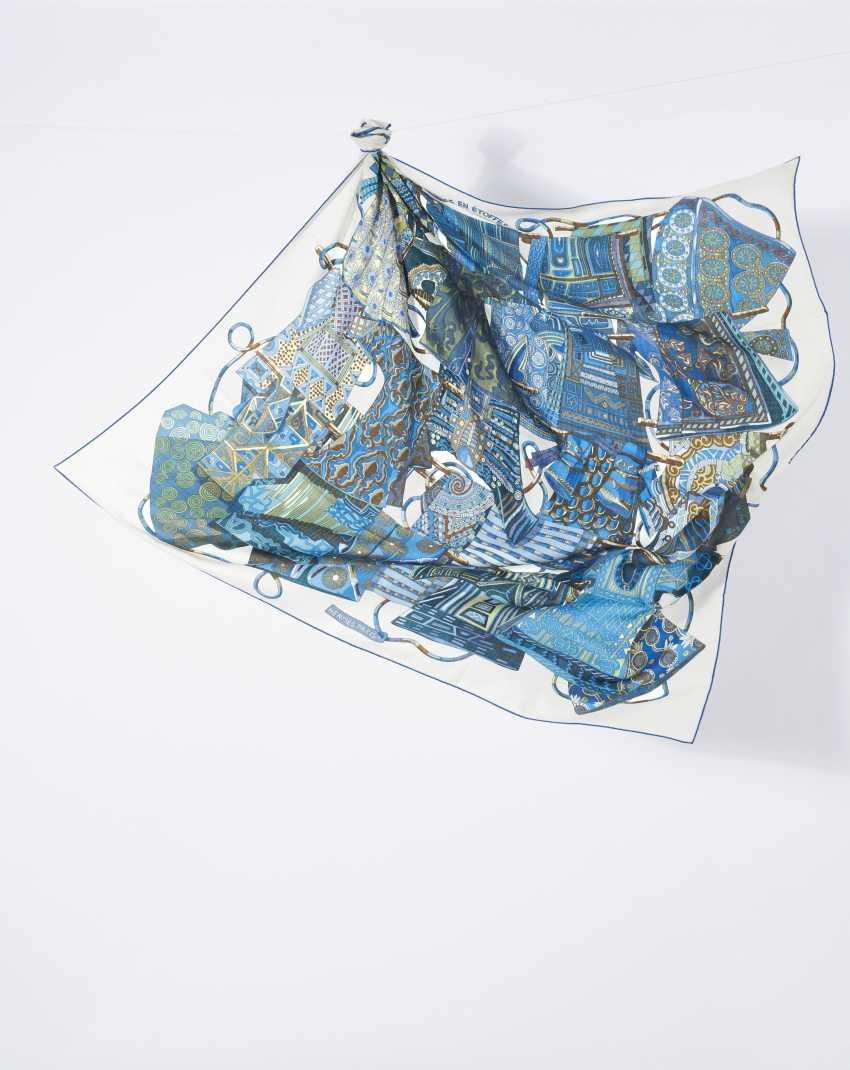 """Tuch Cheche """"Travel Fabrics"""". Hermes, Paris Entwurf Annie Faivre 2009. Ausführung 2009 - photo 1"""