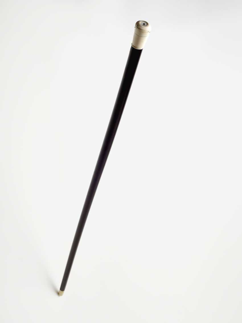 Walking stick with clock. Probably Switzerland, 2. Half of the 19th century. Century. - photo 3