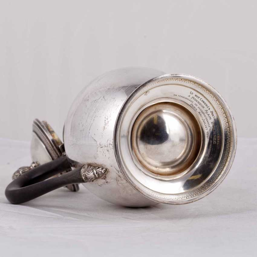 Silver coffee pot with wooden handles - photo 5
