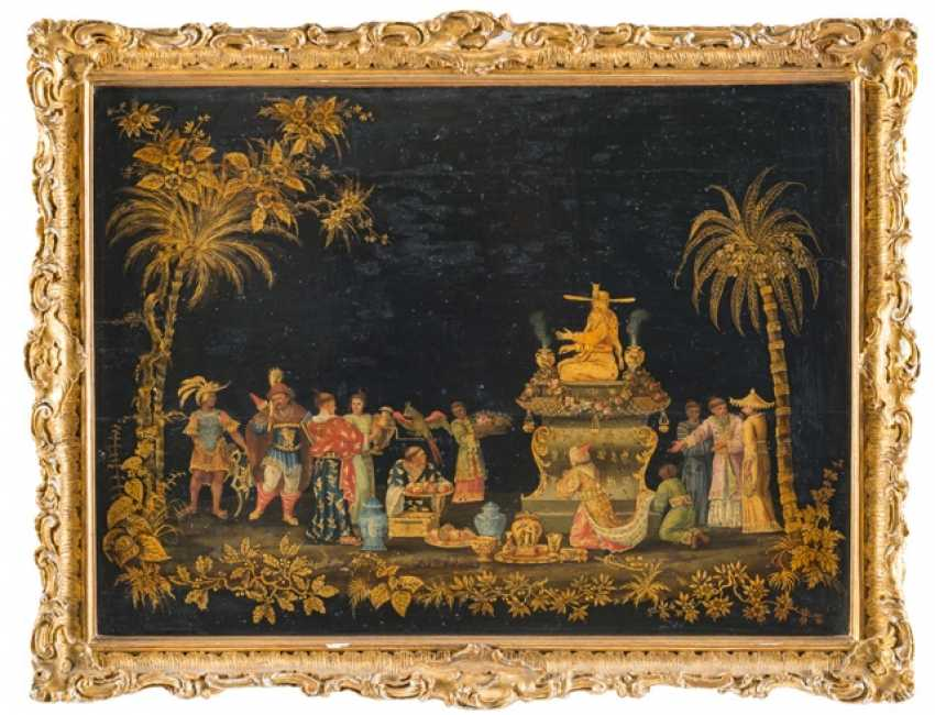 A Magnificent Chinese Lacquer Painting, France, 18. Century - photo 1