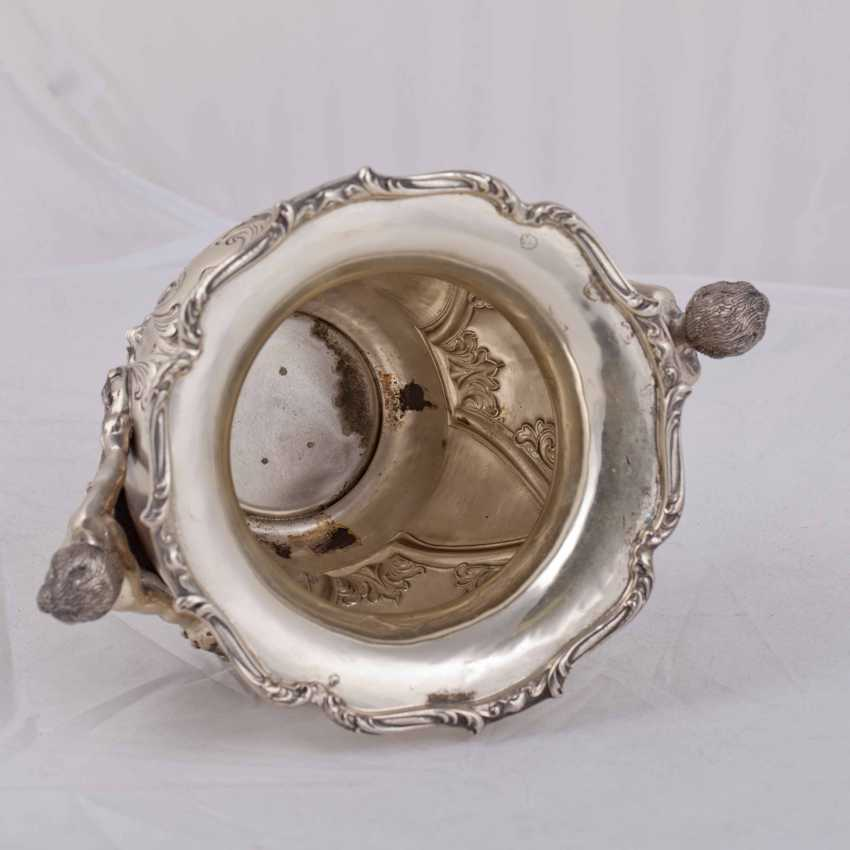 Elegant silver vase/planter with cast figures - photo 6