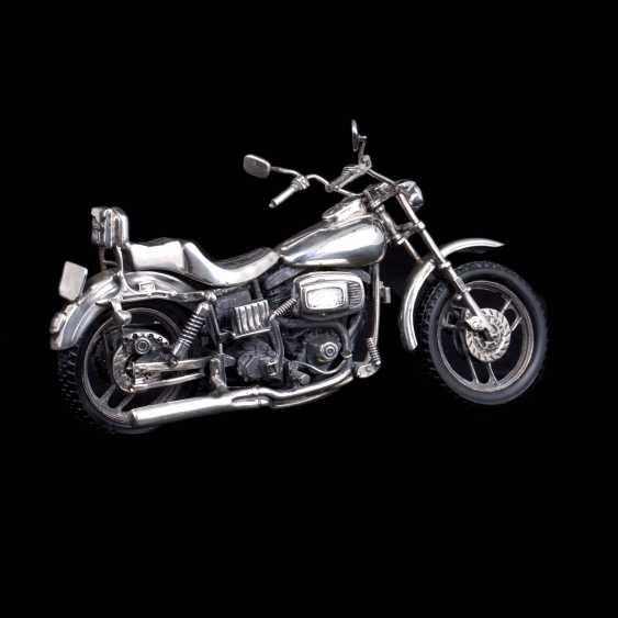 Silver motorcycle model - chopper. Medusa Ora - photo 2