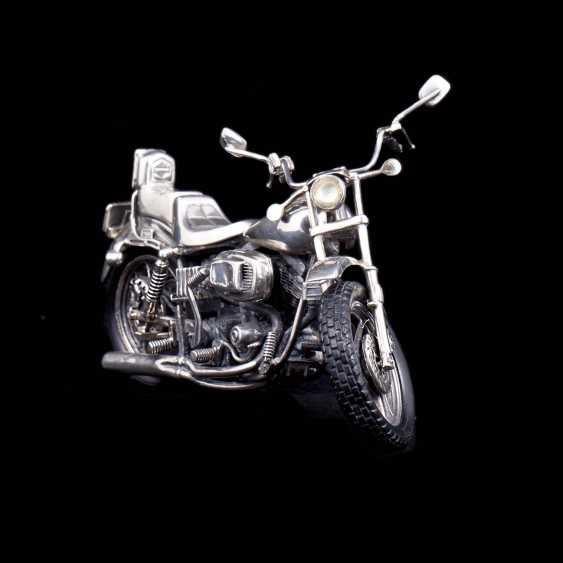 Silver motorcycle model - chopper. Medusa Ora - photo 3