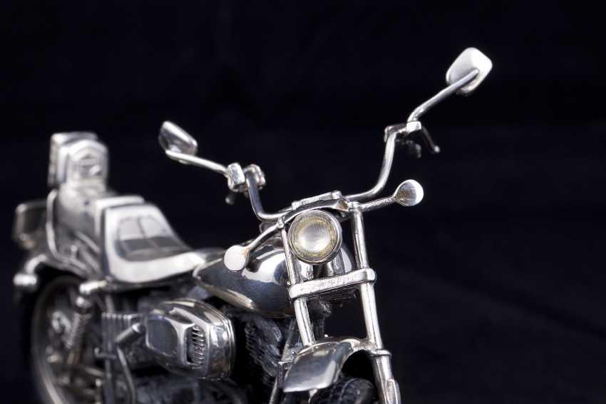 Silver motorcycle model - chopper. Medusa Ora - photo 4