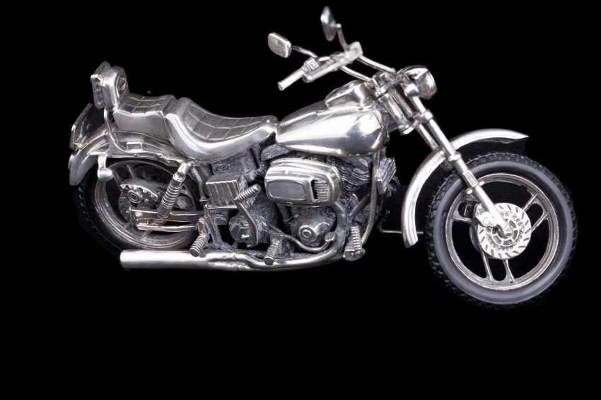 Silver motorcycle model - chopper. Medusa Ora - photo 5