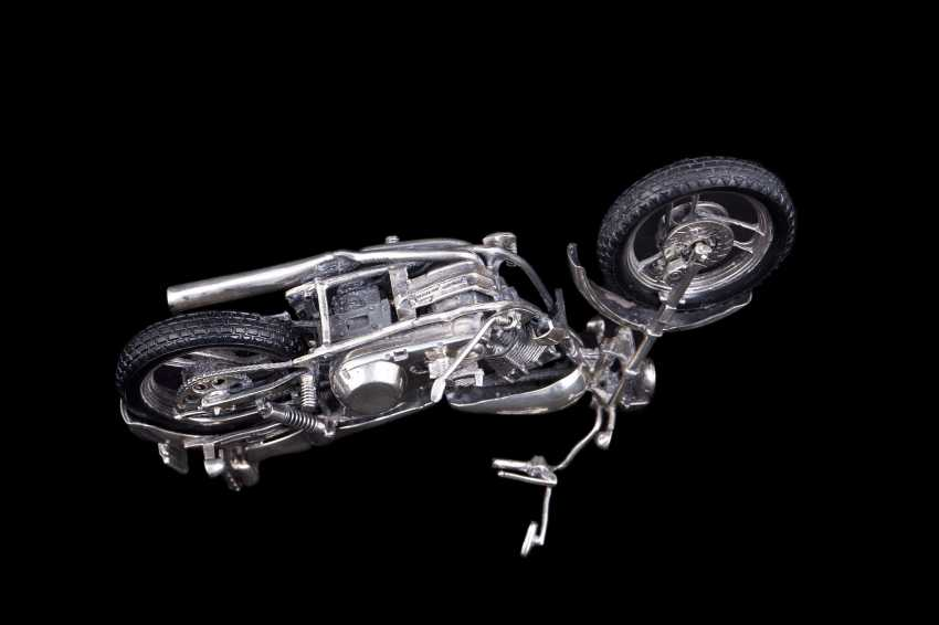 Silver motorcycle model - chopper. Medusa Ora - photo 6