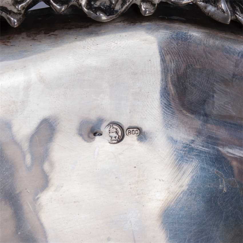 A large silver bowl on legs - photo 6