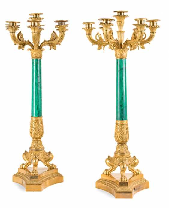 Pair of fine Empire candelabra Signed THOMIRE A PARIS, France, around 1830