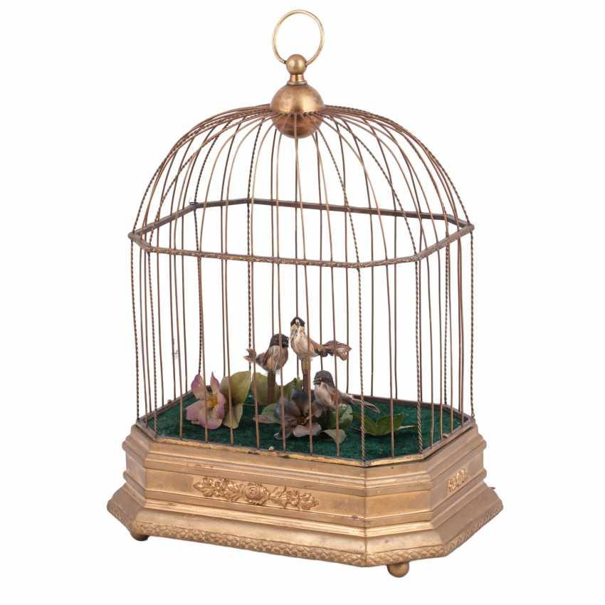 Vintage musical birdcage - photo 1