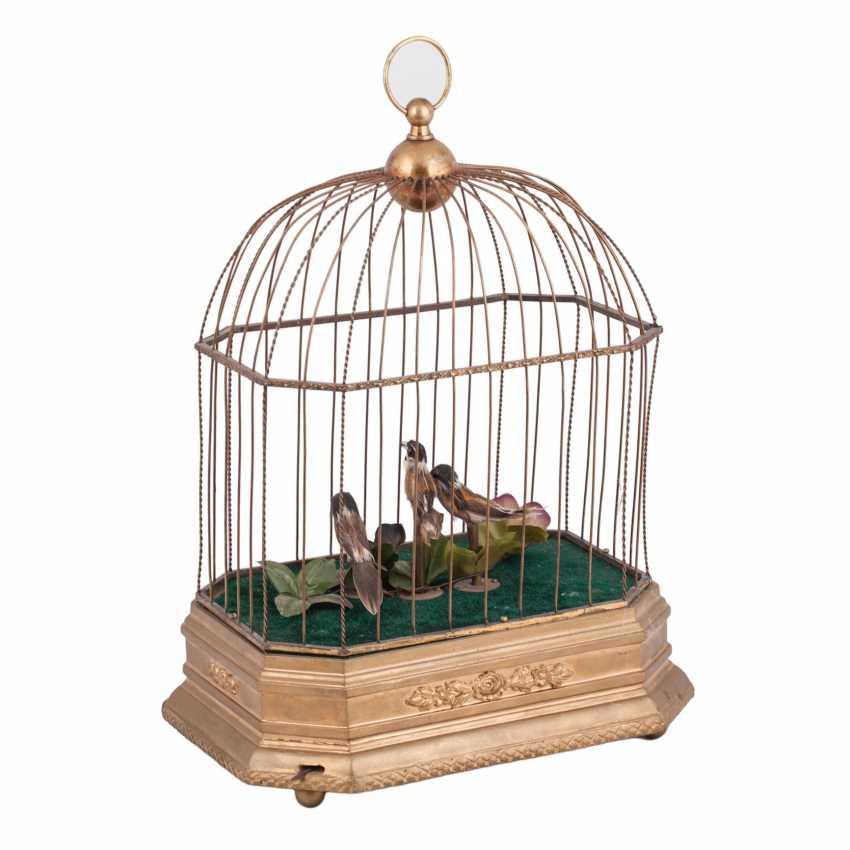 Vintage musical birdcage - photo 4