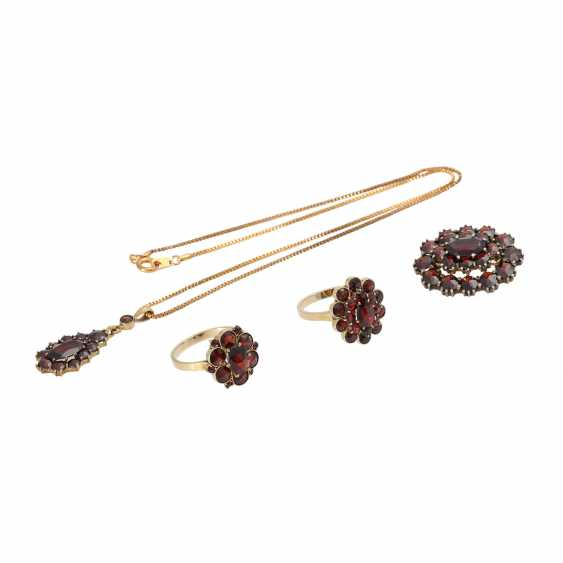 Collection Of Garnet Jewelry, - photo 1