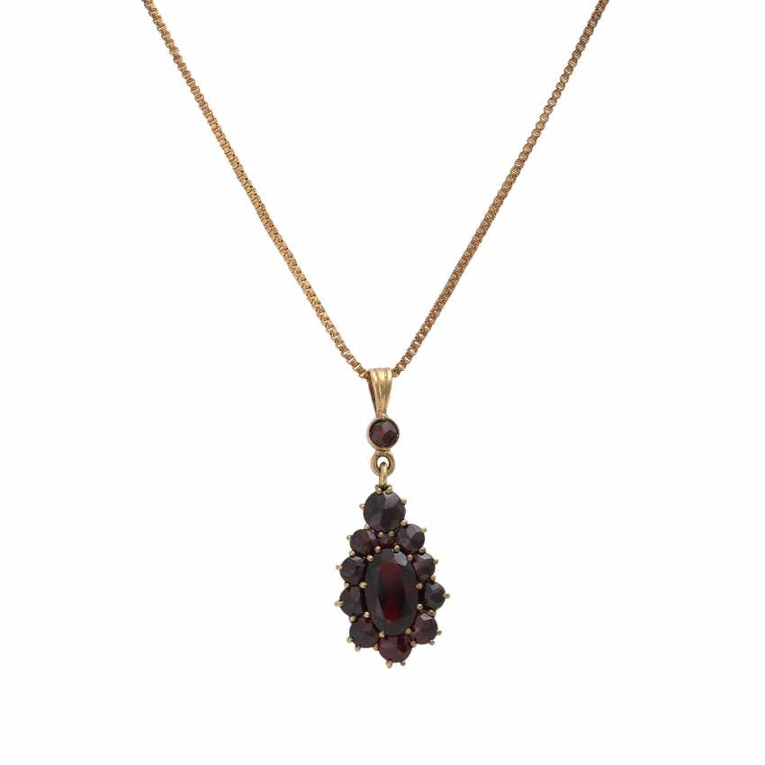 Collection Of Garnet Jewelry, - photo 2