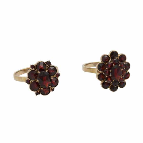 Collection Of Garnet Jewelry, - photo 3