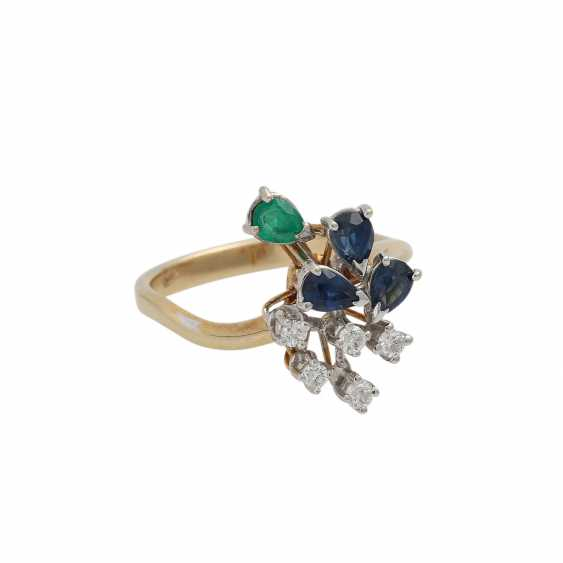Ring with 5 diamonds, together approx. 0,1 ct, - photo 2