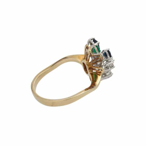 Ring with 5 diamonds, together approx. 0,1 ct, - photo 3