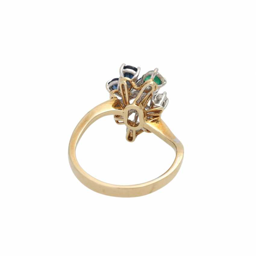 Ring with 5 diamonds, together approx. 0,1 ct, - photo 4