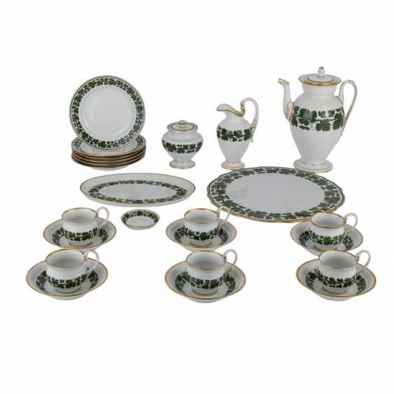 MEISSEN Kaffeeservice für 6 Personen im Empire-Stil, 1924-1934. - Foto 1