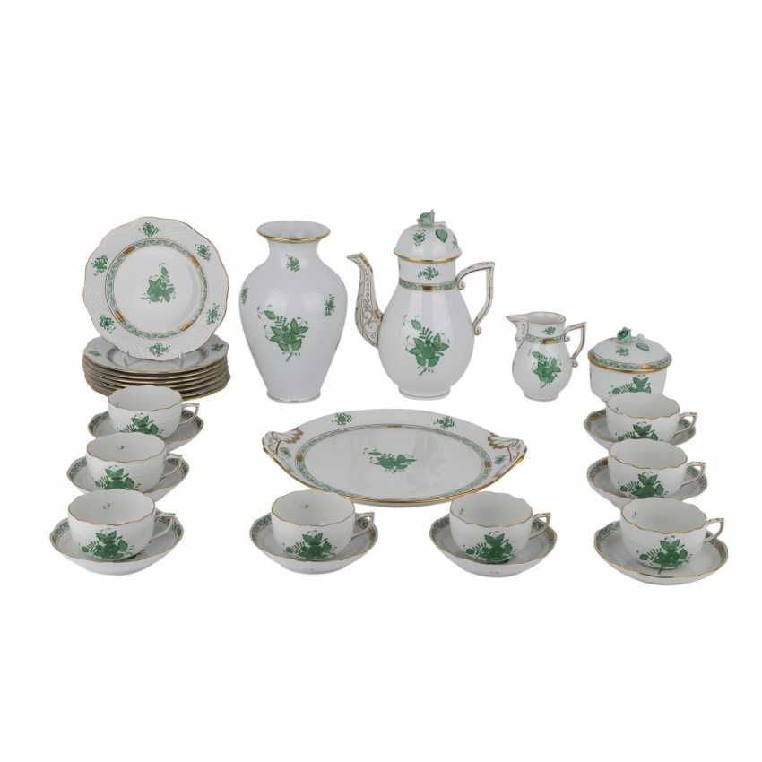 d32aeaa8 Lot 623. HEREND coffee service for 8 people, 20. Century from the ...