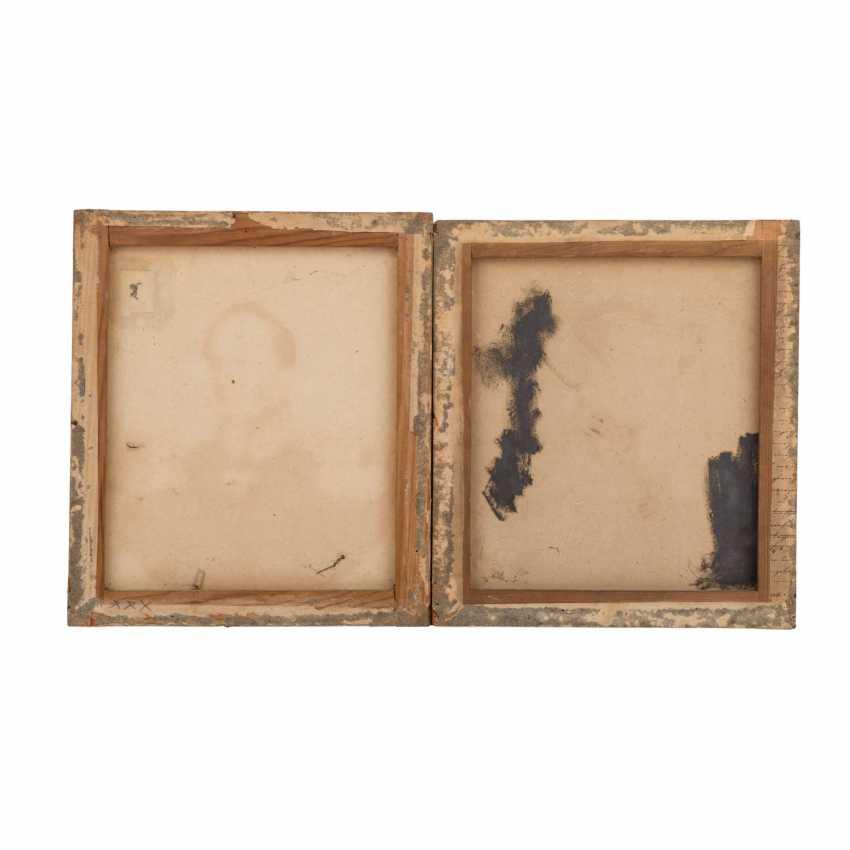 "Portrait artist of the 19th century. Century, 2 portraits ""officers High German"" - photo 2"