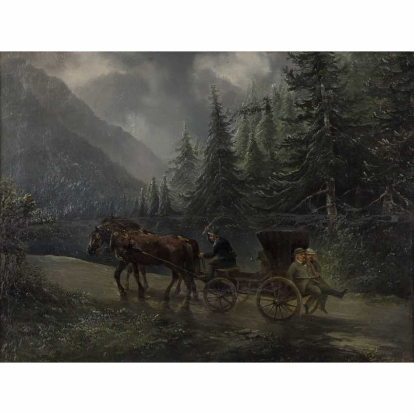 Süddeutsche Zeitung(r) the artist(in) of the 19./20. Century. 'A carriage in a mountainous forest landscape'. - photo 1