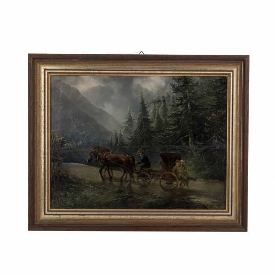 Süddeutsche Zeitung(r) the artist(in) of the 19./20. Century. 'A carriage in a mountainous forest landscape'. - photo 2
