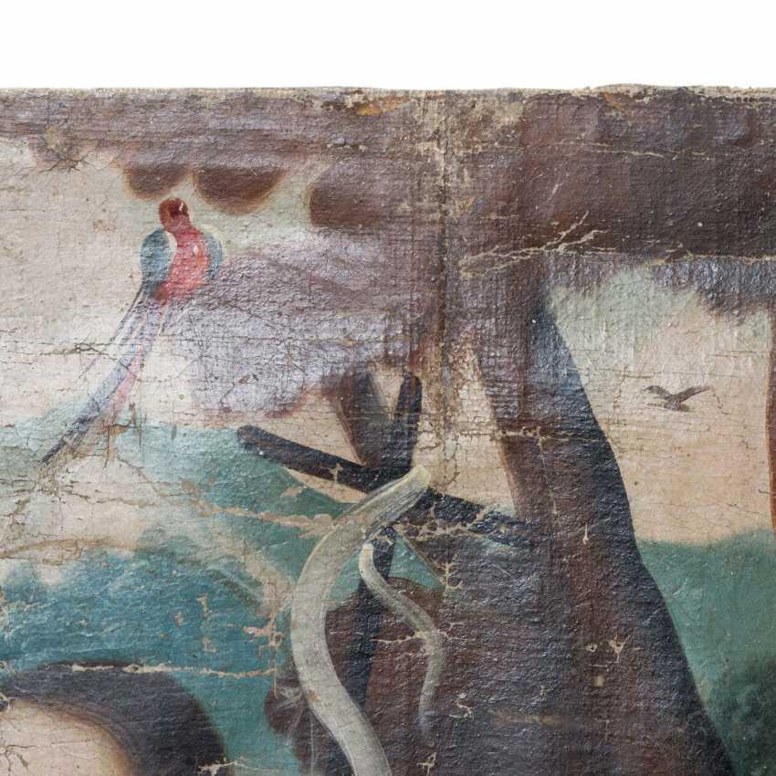 """Peintre de l'ÉCOLE DE CUSCO, au Pérou, 18./19. Siècle, """"Le Baptême Du Christ"""", - photo 4"""