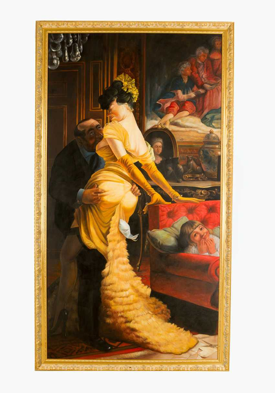 Эмиль Айсман Semenowsky (1859-1911)-круг, пару, маслом на холсте, оформлена - фото 1
