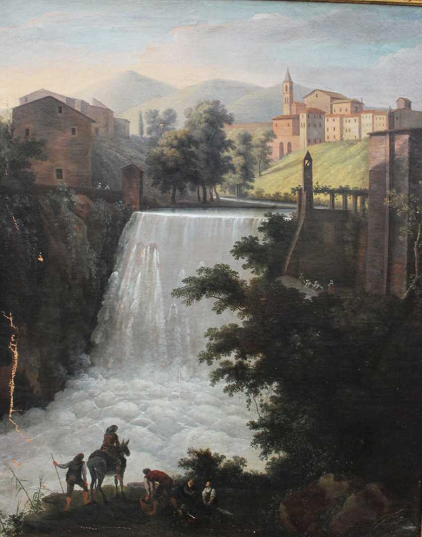 Italian Artist around 1800, waterfall, oil canvas, framed - photo 2