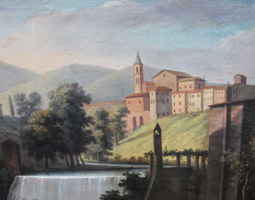 Italian Artist around 1800, waterfall, oil canvas, framed - photo 3