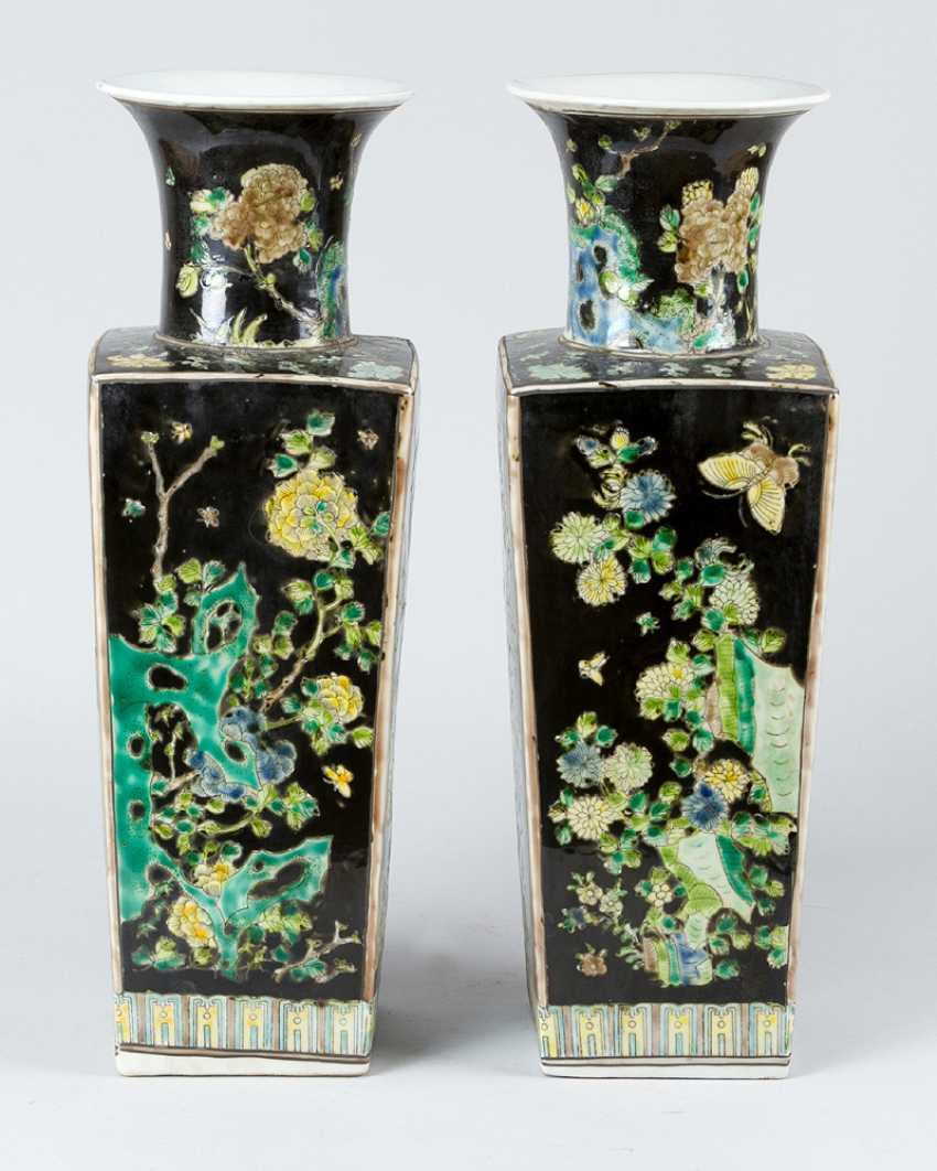 Pair of Chinese Porcelain vases, Qing Dynasty - photo 1