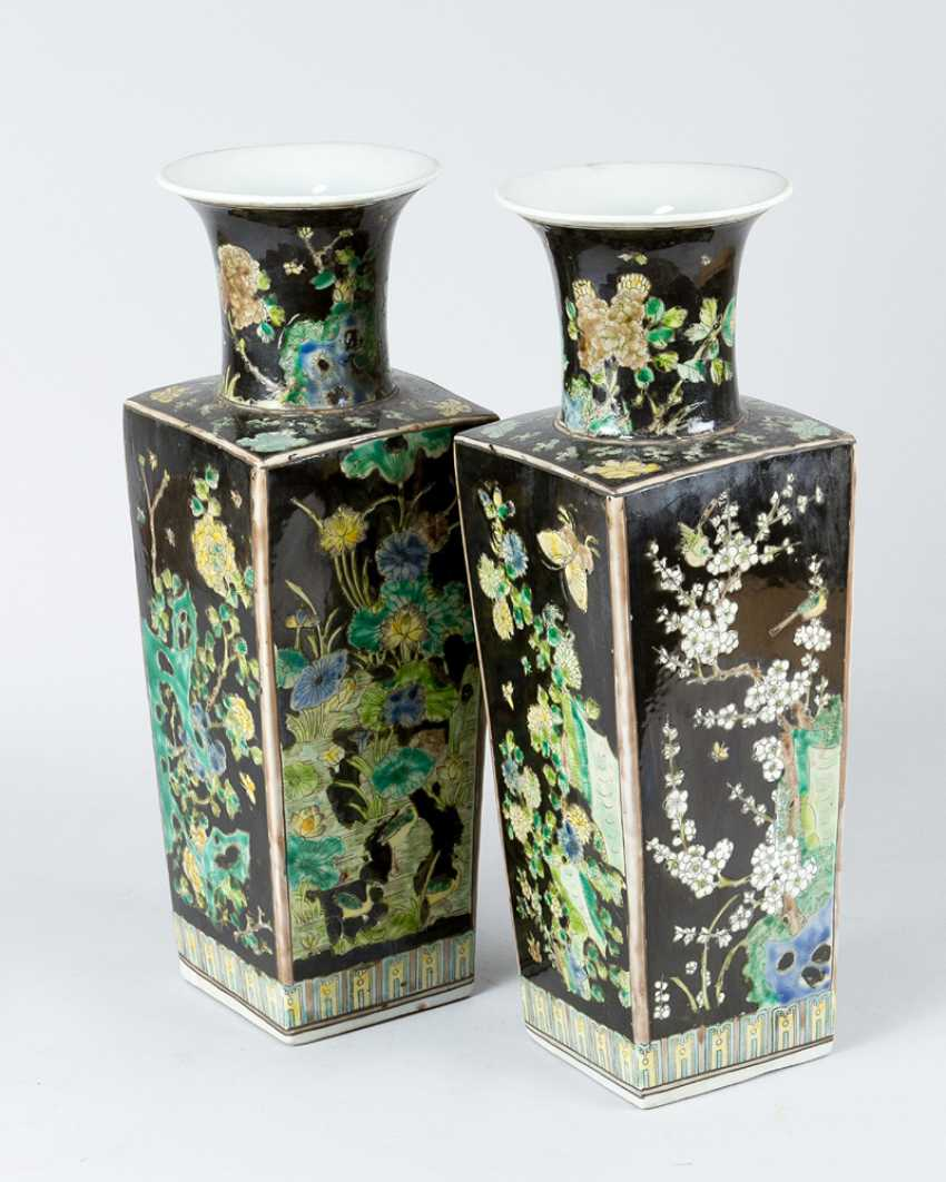 Pair of Chinese Porcelain vases, Qing Dynasty - photo 2
