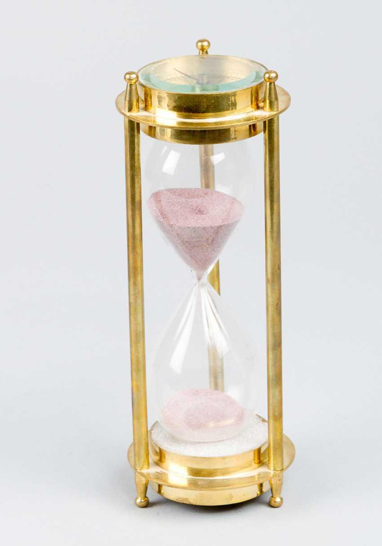 Песочные часы, с компасом, бронза, стекло, 20.века - фото 1