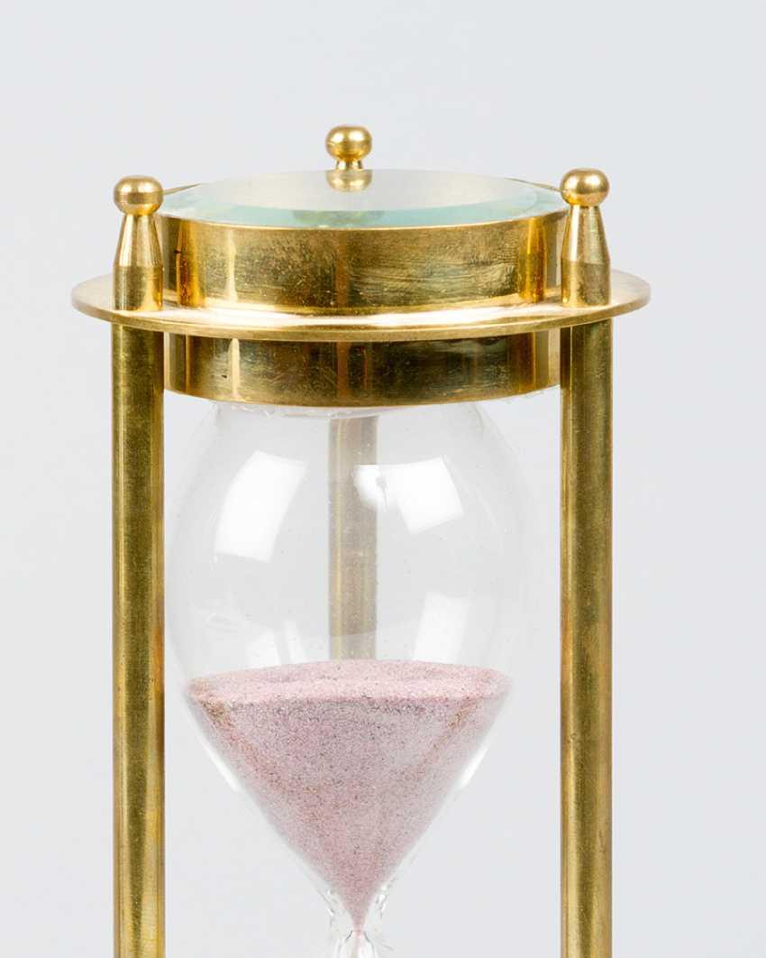 Песочные часы, с компасом, бронза, стекло, 20.века - фото 3