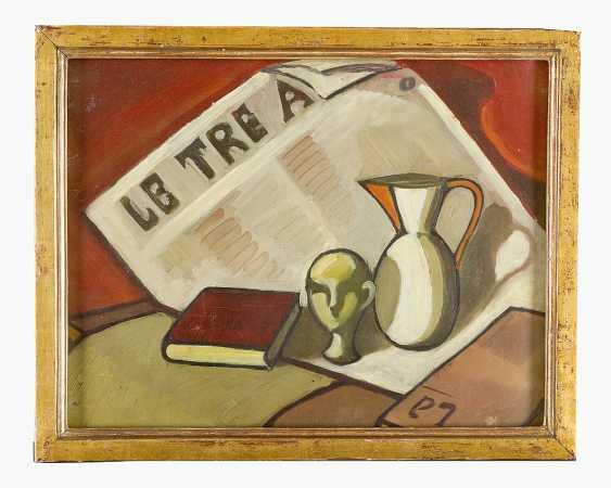 Italian Artist 20.century, still life, oil on board, framed - photo 1