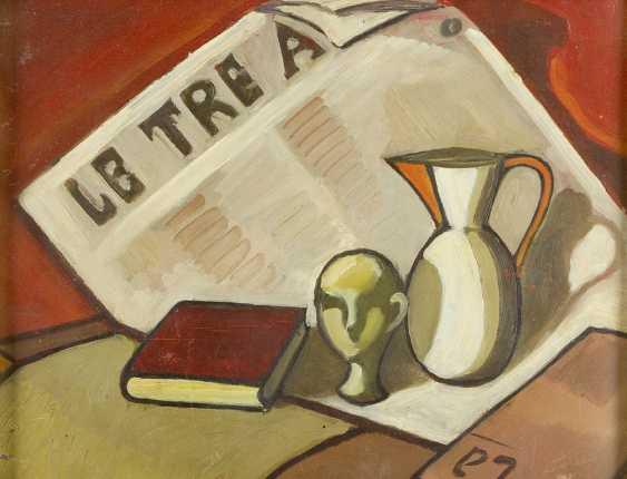 Italian Artist 20.century, still life, oil on board, framed - photo 2