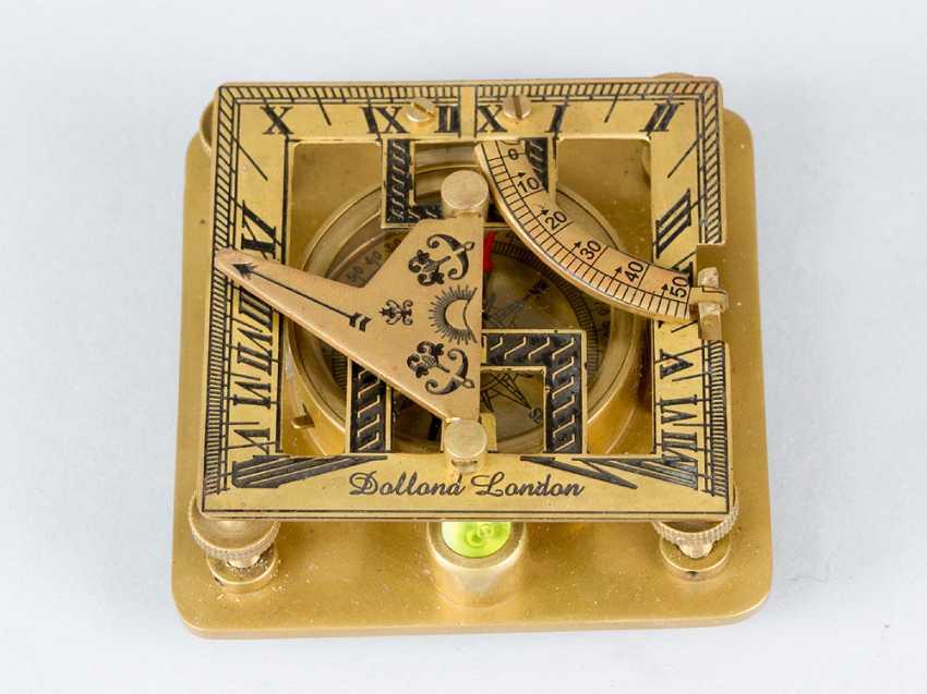 солнечные часы с компасом, бронзы, 20.века - фото 2