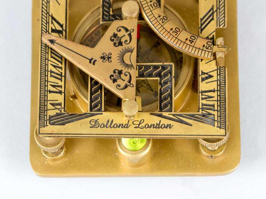 солнечные часы с компасом, бронзы, 20.века - фото 3