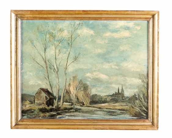 Anders Osterlind (1887-1960) Chartres, Oil on Canvas, signed, framed - photo 1