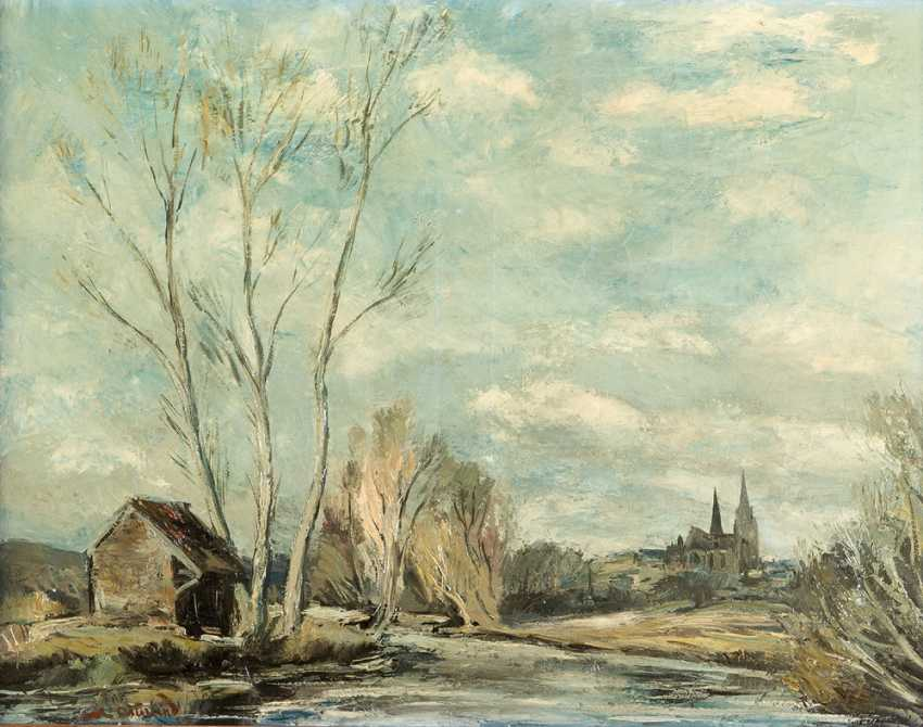 Anders Osterlind (1887-1960) Chartres, Oil on Canvas, signed, framed - photo 2