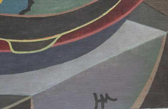 Cubiste, vers 1930, huile sur toile, encadrée, monogramme - photo 3