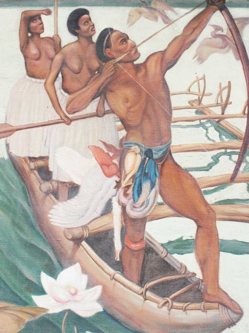 Artist 20.century, Hunters, oil canvas, framed - photo 3