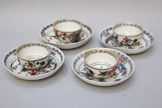 Four Vienna Porcelain cups with sauce, painted, 18.century - photo 1