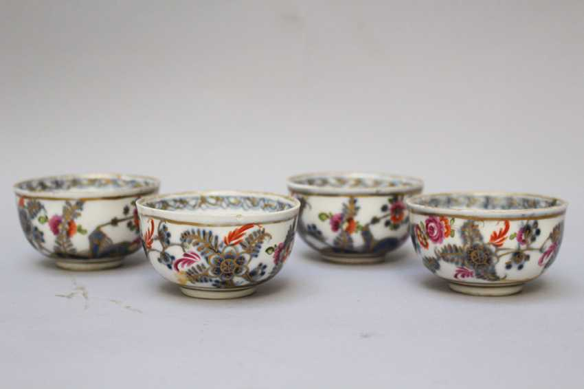 Four Vienna Porcelain cups with sauce, painted, 18.century - photo 2
