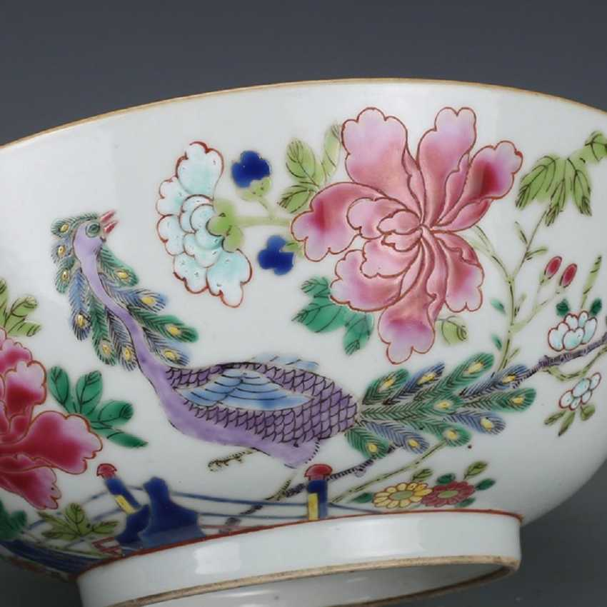Qing Dynasty Pastel painting Peacock bowl - photo 2