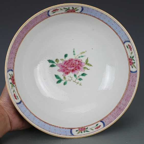 Qing Dynasty Pastel painting Peacock bowl - photo 6