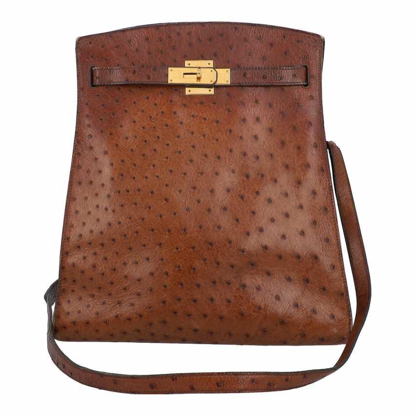 "HERMÈS VINTAGE shoulder bag ""KELLY SPORT"" OSTRICH ""MM"", collection: in 1988, original price: approx. € 6.000,-€. - photo 1"